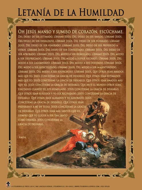 Spanish Litany of Humility Poster