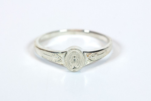 Sterling Silver Miraculous Medal Ring
