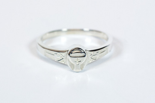 Sterling Silver Chalice First Communion Ring
