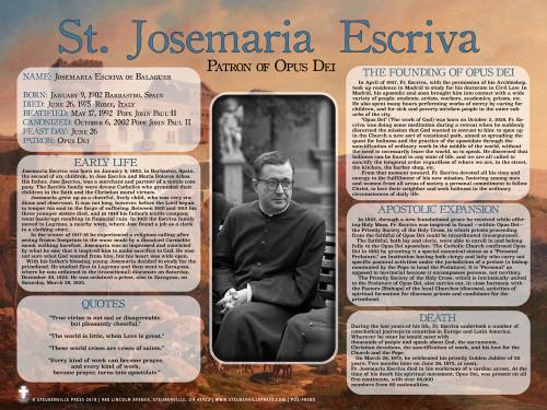 St. Josemaria Escriva Explained Poster