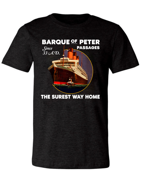 Barque Of Peter Heather Charcoal T-Shirt