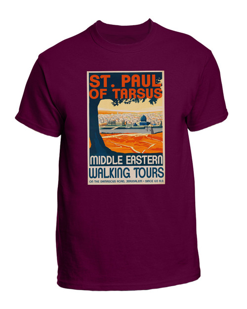St. Paul Walking Tours Maroon T-Shirt