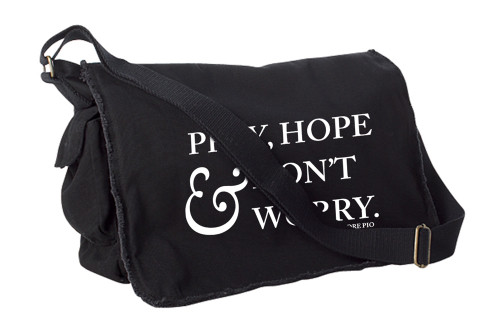 Pray Hope and Don't Worry Large Messenger Bag