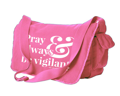Pray and Always be Vigilant Large Messenger Bag