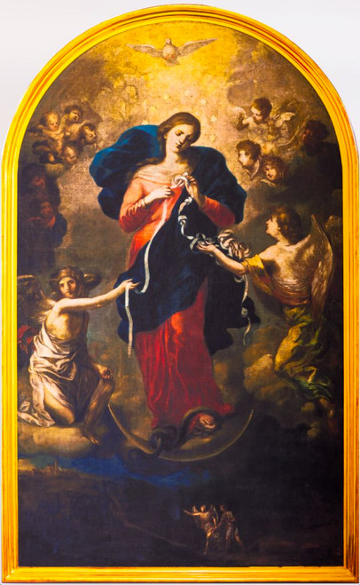 Mary Undoer of Knots Premium Giclée Canvas Print - Rolled