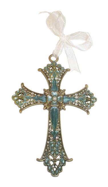Butterfly Jeweled Cross
