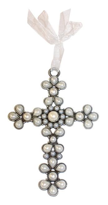 Pearl Jeweled Cross