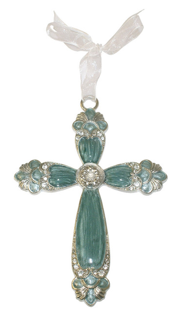 Scallop Jeweled Cross