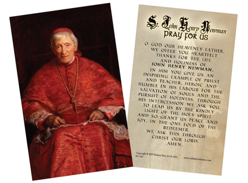 St. John Henry Newman Holy Card