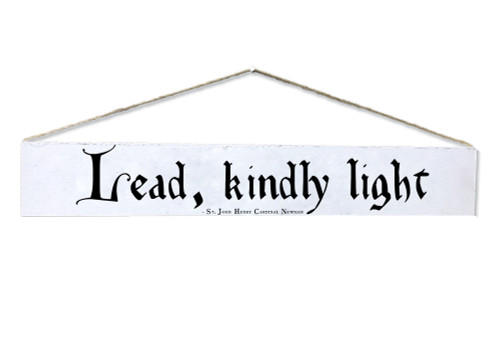 """Lead, Kindly Light"" St. John Henry Newman Quote Plaque"