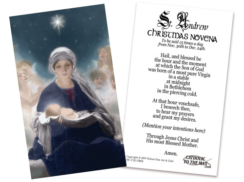 FREE St. Andrew Christmas Novena Holy Cards (pack of 50)