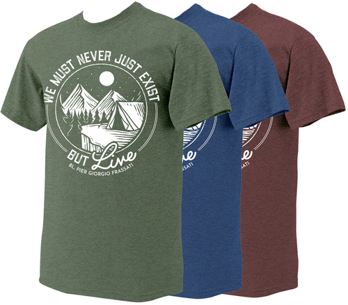 """Live"" Bl. Pier Giorgio Heather T-Shirt"