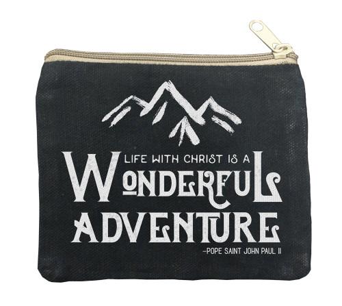 Wonderful Adventure Large Black Rosary Bag