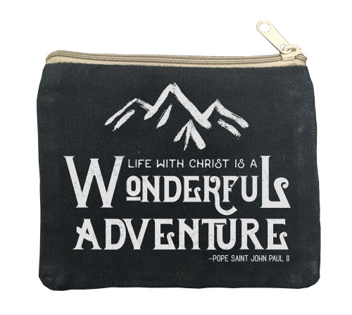 Wonderful Adventure Large Black Rosary Bag
