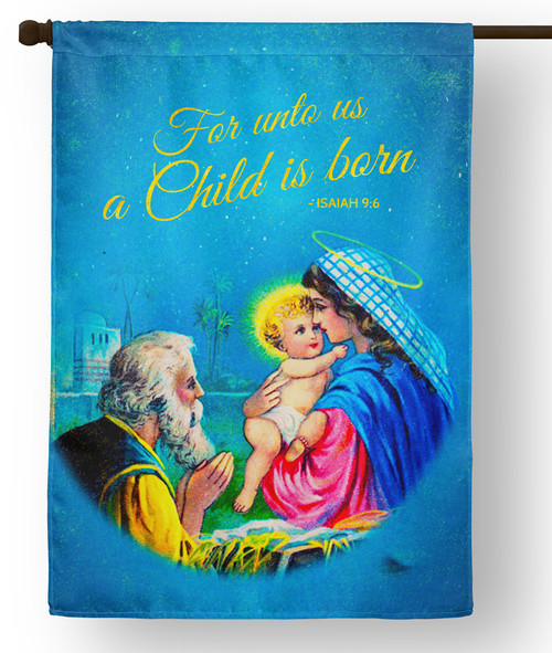 Vintage Holy Family Outdoor House Flag