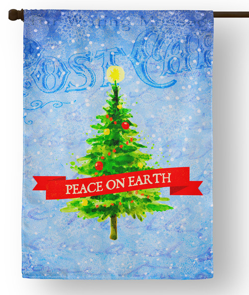 Peace on Earth  Outdoor House Flag