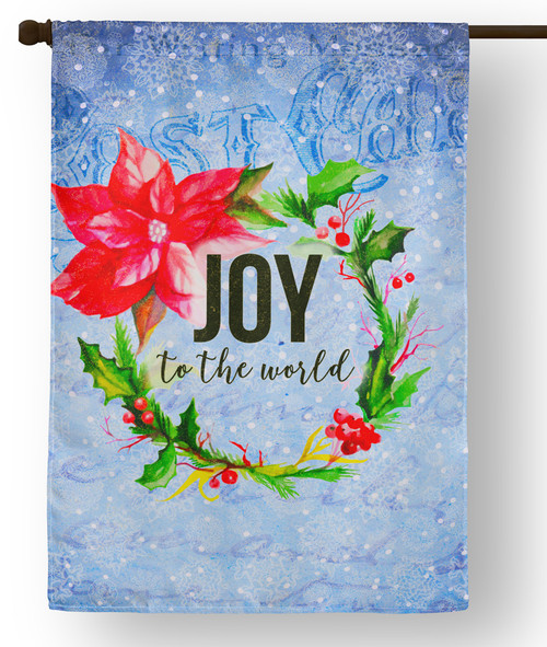 Joy to the World Outdoor House Flag
