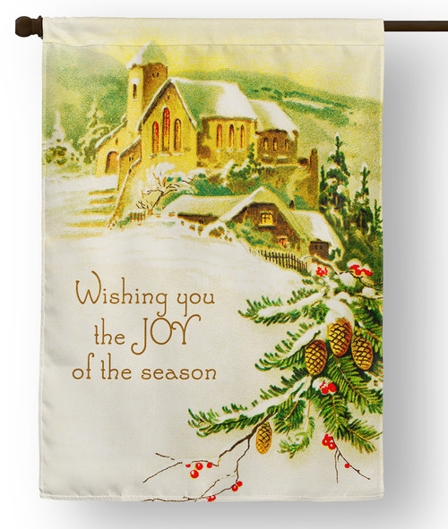 Vintage Joy of the Season Outdoor House Flag