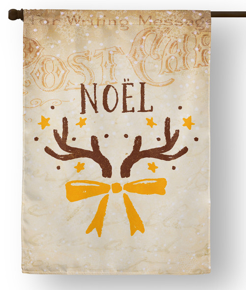Vintage Noel Outdoor House Flag