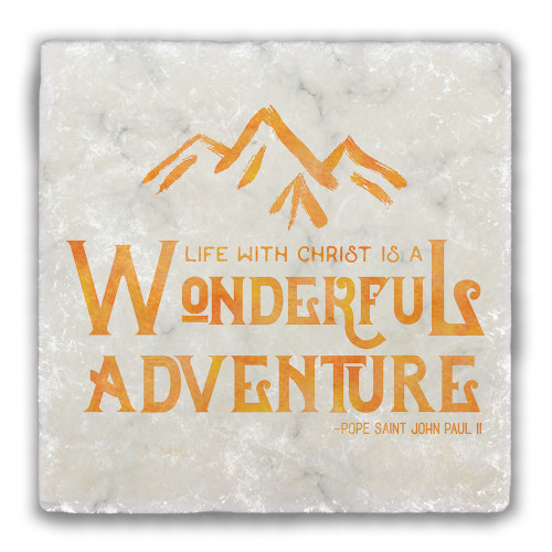 Wonderful Adventure Tumbled Stone Coaster