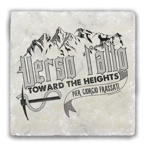 """""""Verso L'Alto"""" Tumbled Stone Coaster"""