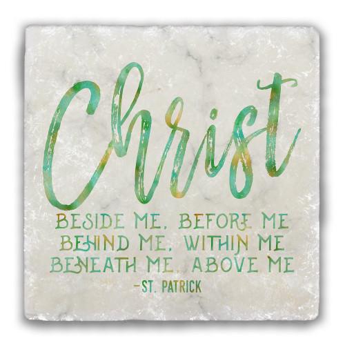 """Christ"" Tumbled Stone Coaster"