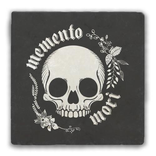 """""""Memento Mori"""" Tumbled Stone Coaster"""