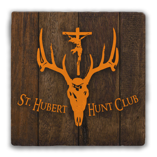 St. Hubert Hunt Club Tumbled Stone Coaster