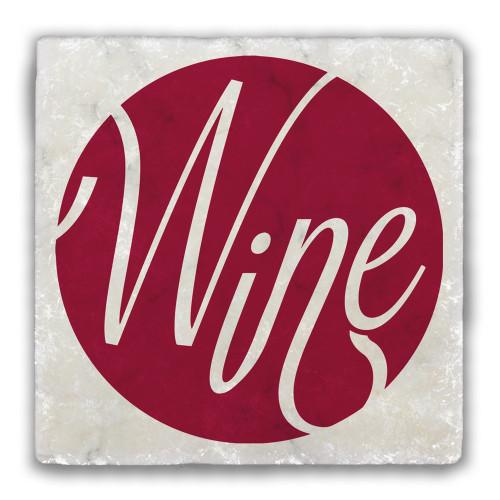 Wine Tumbled Stone Coaster