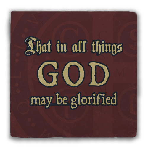 """That in All Things"" Tumbled Stone Coaster"