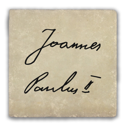 St. Pope John Paul II Signature Warm Tumbled Stone Coaster
