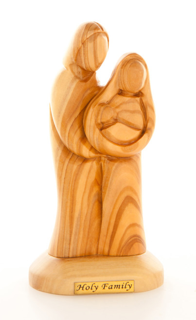 Small Holy Family Olive Wood Statue
