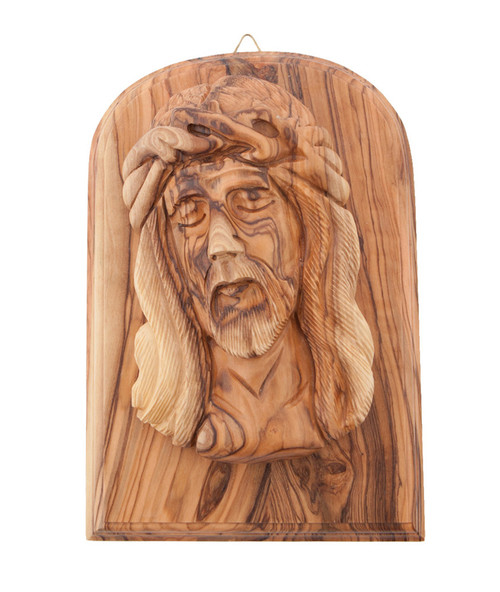 The Holy Face Olive Wood Plaque