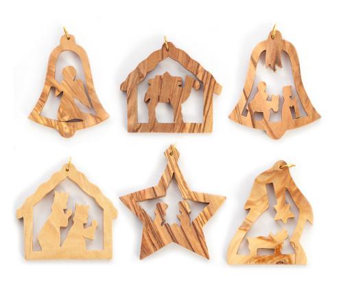 Olive Wood Ornament Set