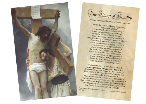 Litany of Humility Holy Card