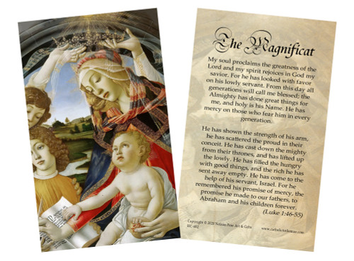 Magnificat Holy Card