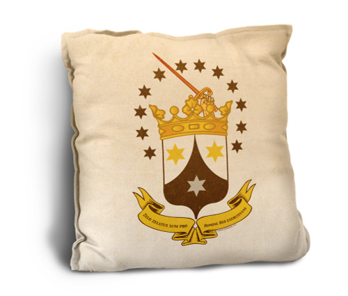 Ancient Carmelite Crest Rustic Pillow
