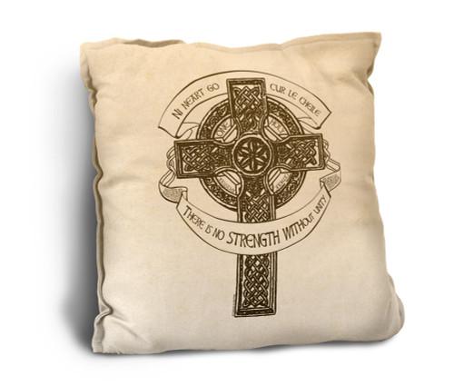 Celtic Cross Rustic Pillow