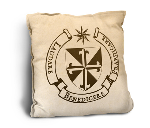 Dominican Crest Rustic Pillow