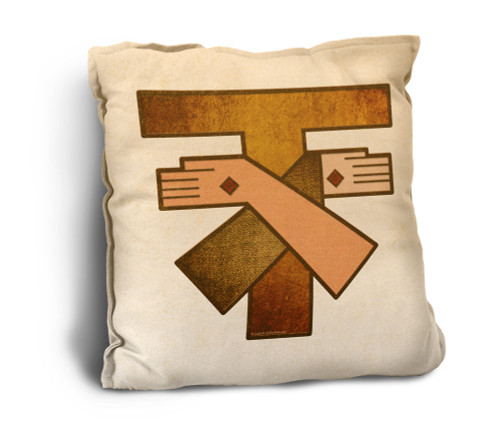 Franciscan Crest Rustic Pillow