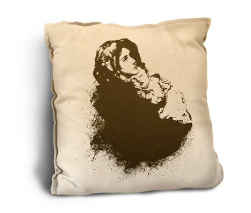 Madonna of the Streets Rustic Pillow