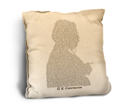 G.K. Chesterton Quote Rustic Pillow