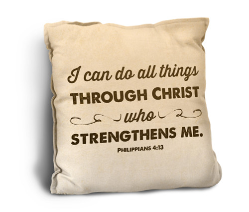 I Can Do All Things Rustic Pillow