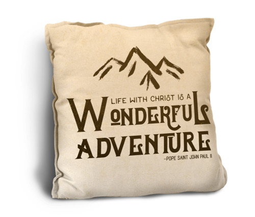 Wonderful Adventure Rustic Pillow