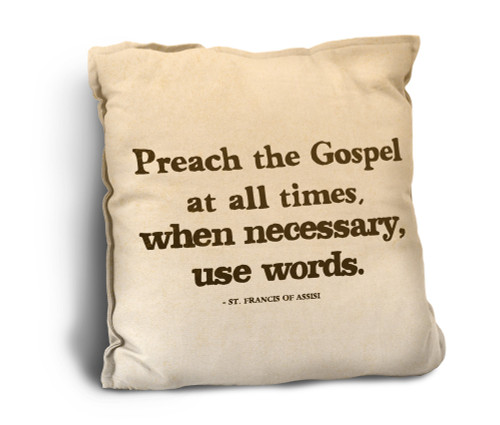 Preach the Gospel Rustic Pillow