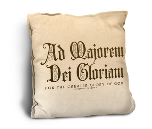 AMDG Rustic Pillow