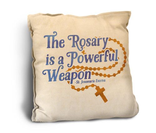 The Rosary Rustic Pillow