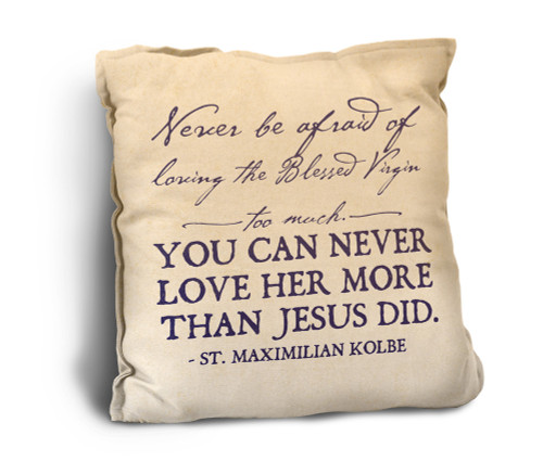 Loving the Blessed Virgin Rustic Pillow