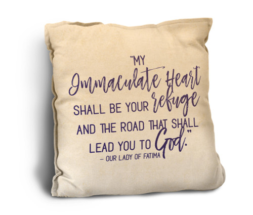 Immaculate Heart Quote Rustic Pillow