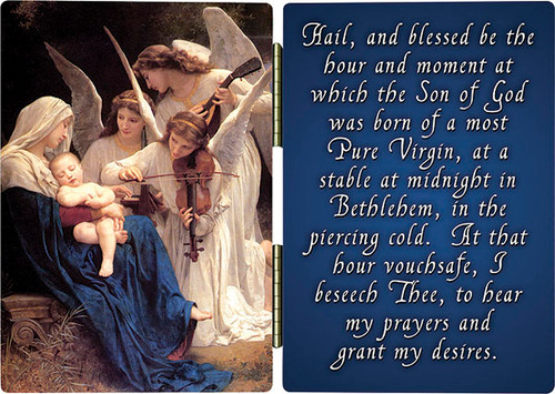 Song of the Angels with St. Andrew Novena Prayer Diptych